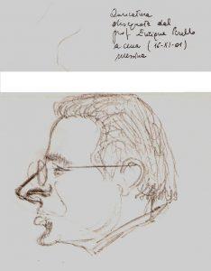 caricatura del dottor Gucciardo effettuata il 16-1-2001 dal professor Enrique Perello